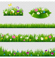 flowers borders collection vector image vector image