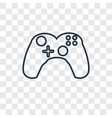 gamepad concept linear icon isolated on vector image