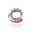 gear industry logo vector image vector image