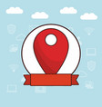 gps location cartoon vector image vector image