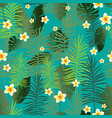 green tropical color leaves vector image