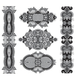 grey original hand draw line art ornate flower vector image vector image