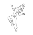 Hip-hop woman dancer vector image vector image