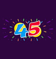 horizontal banner anniversary celebrating bright vector image vector image