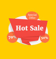 hot sale color label like special offer vector image