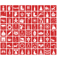 Icons Christmas and New Year vector image