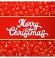 Merry Christmas White 3d Xmas lettering vector image vector image