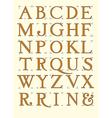 Modern roman alphabet
