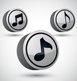 Music note icon isolated 3d music theme design vector image vector image