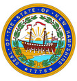 new hampshire state seal vector image vector image