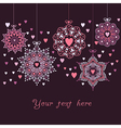 ornate christmas balls made of hearts Romantic vector image vector image