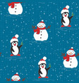 painted wallpaper christmas pattern vector image vector image
