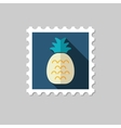 Pineapple flat stamp with long shadow vector image vector image