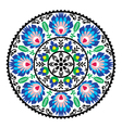 Polish traditional folk pattern in circle vector image vector image