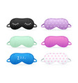 realistic detailed 3d color different sleep mask vector image vector image
