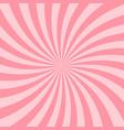 retro pink starburst background vintage star ray vector image