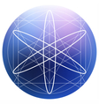 Sacred geometry symbol on colorful mesh background vector image vector image