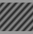 seamless black diagonal knitting vector image vector image
