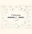 Set custom decorative swashes and swirls white