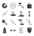 set of icons associated with loans and interest vector image