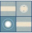 set retro blue wavy back vector image