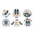 shoe shop logo design collection footwear premium vector image