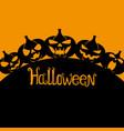 silhouettes of halloween pumpkins vector image vector image