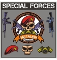 Special forces patch set - stock vector image
