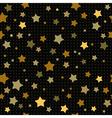 stars on black vector image vector image