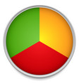 tricolor pie chart icon with one third parts vector image