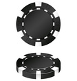 Two black casino chips vector image