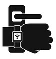 watch door lock icon simple style vector image vector image