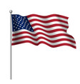 Waving national flag of united states of america
