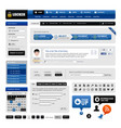 web design website element a web design template vector image vector image