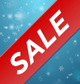 Winter sale big red ribbon vector image