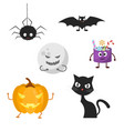 set of characters for halloween vector image