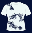 tshirt dragon vector image