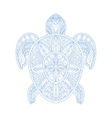 Turtle Stylised Doodle Zen Coloring Book Page vector image