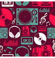 Music icons seamless pattern vector image