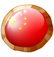 badge design for china flag vector image vector image