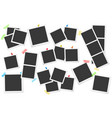 big set of square photo frames on sticky vector image vector image