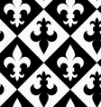 Black and white alternating Fleur-de-lis up and vector image