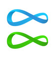 blue and green tape of mobius vector image vector image