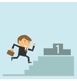 businessman goes to success vector image