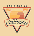 california surf sport typography vintage t shirt vector image