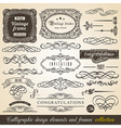 Calligraphic Element Border vector image vector image