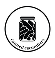 Canned cucumbers icon vector image vector image