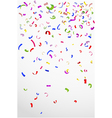 Colorful confetti on white background for celebrat vector image vector image