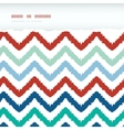 Colorful ikat chevron frame horizontal torn vector image vector image