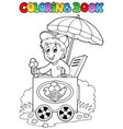 coloring book with ice cream man vector image